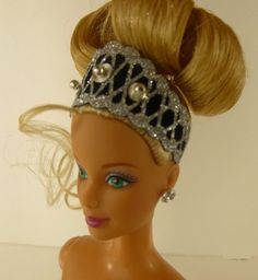 BARBIE DOLL NEW MODEL MUSE LUXURIOUS BEAUTY, EXQUISITE TIARA FOR OOAK, JEWELRY