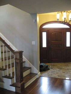 Marble entry and custom door, all custom designed.