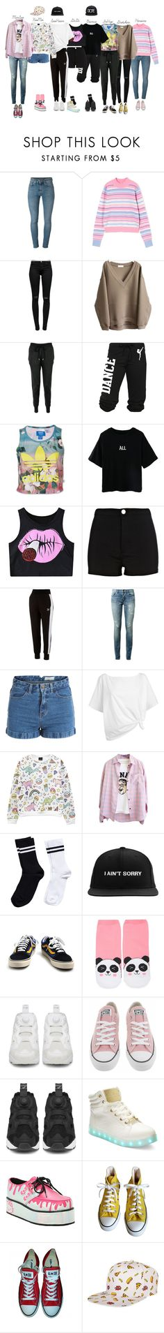 """"""" ℙ ❝  ❞ Dance Practice"""" by candy-ninjas ❤ liked on Polyvore featuring Yves Saint Laurent, J Brand, Markus Lupfer, adidas, WithChic, Chicnova Fashion, River Island, Puma, Pieces and Red Herring"""