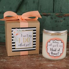 It's your turn to pop the question! Shop our collection of Bridesmaid and Maid of Honor proposal and Bridesmaid thank you gifts. See more here: http://www.thefavordesignstudio.com/the-gift-shop/