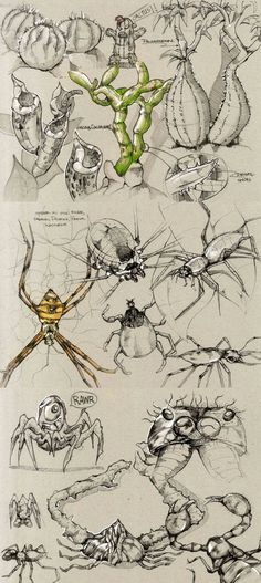 Sketches by Della Tosin, via Behance.