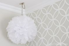 stencil pattern   colors: Old Prairie by Benjamin Moore and Simply White by Benjamin Moore.}