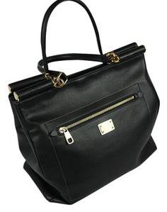 ac167ca4d88f Dolce Gabbana   Dolce   Gabbana Black Leather Shoulder Bag