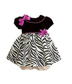 Bonnie Baby Newborn Zebra Print Taffeta Dress and Panty #Dillards