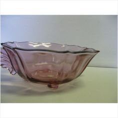 Indiana Glass Tiara Exclusives Eve Plum Footed Square Bowl Made in USA on eBid United States #teamsellit #relove