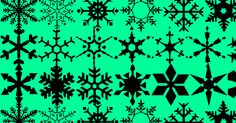 Font full of snowflakes