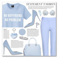 """Say What: Statement T-Shirts"" by myduza-and-koteczka ❤ liked on Polyvore featuring STELLA McCARTNEY, Anja, MICHAEL Michael Kors, Le Silla, Dorothy Perkins, Linda Farrow, Deborah Lippmann and Bling Jewelry"