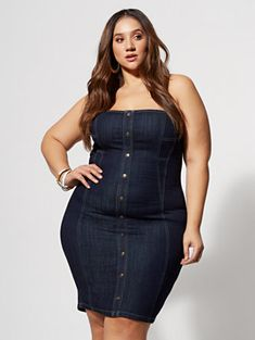 9f6b81612df Shop Jordyn Denim Bodycon Dress. Find your perfect size online at the best  price at. Fashion to Figure