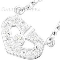 カルティエ ネックレス Cハート ハート&シンボル ダイヤモンド K18WGホワイトゴールド B3040300 Cartier ジュエリー ペンダント