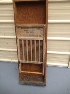 Medicine cabinet from Vintage drawer and wash board made by Waste Not What Knots