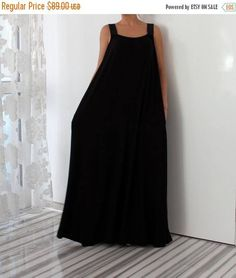 SALE ON 20 % OFF Black Sleeveless Maxi Dress with Pockets