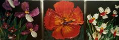 """""""Transcendence"""" 6"""" x 18"""" triptych oil painting by Beck Paschoal.  Original is sold,  commissions are welcome.  Contact Eclectic Image Gallery Maui  8088740701"""