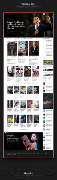 Web design: The Journal Concept UI/UX