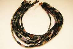 1strand  natural indian agate stick sized 4 by 14mm by 3yes