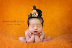 Sweet Newborn Witch Hat Baby Witch Hat ORIGINAL design From The Sweet And Spooky Halloween Collection Must Have Halloween Photo Prop. $25.00, via Etsy.