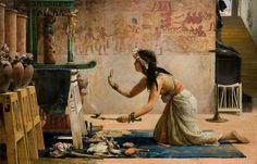 Джон Рейнхард Уэгелин. «Похороны египетской кошки». 1886 г.