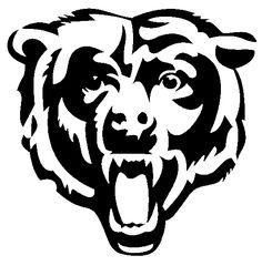Chicago Bears Coloring Pages Chicago Bears Tattoo, Chicago Bears Cake, Chicago Bears Colors, Bear Stencil, Pumpkin Stencil, Pumpkin Carving, Pumpkin Painting, Nfl Bears, Bears Football