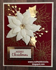 Stamped Christmas Cards, Beautiful Christmas Cards, Christmas Card Crafts, Homemade Christmas Cards, Christmas Cards To Make, Christmas Greeting Cards, Christmas Greetings, Homemade Cards, Holiday Cards