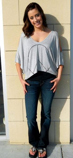 Peace with cutout sleeves...love it
