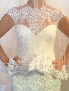 Harry Robles Bridal couture wedding lace embroidered dress