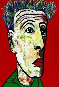 "Saatchi Art Artist CARMEN LUNA; Painting, ""3-SOY...Egon Schiele III."" #art"