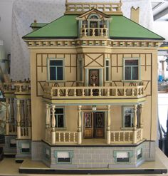 Antique German Christian HACKER large DOLLS House Sondra Krueger Antiques/ rubylane