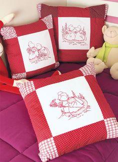 Almofadas decoradas com pintura