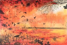 Scarlet Tempest Painting Print