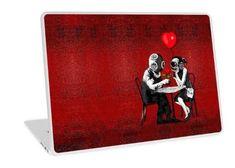 Steampunk couple Laptop Skins #laptop #skin #case #Red #Girly #Kids #Children #valentine #BanksyTheBalloons #Balloons #Steampunk #Diving #Dinner #Rose #halloween #graphicdesign #GirlGirls #Feminime #Psycopath #Spooky #Scary #Romantic