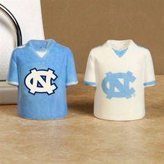 North Carolina Tar Heels (UNC) Gameday Ceramic Salt & Pepper Shakers
