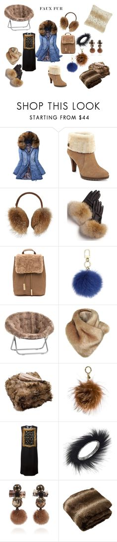 """Love Furs?"" by ipekzsuel on Polyvore featuring WithChic, Anne Klein, Bogner, FRR, Tory Burch, PBteen, Safavieh, MICHAEL Michael Kors, Dsquared2 and Betsey Johnson"