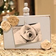 wooden block photo frame - cute and so easy!