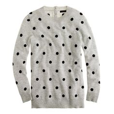 Collection cashmere polka-dot sweater / JCrew