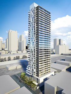 Top 10 Calgary developments on BuzzBuzzHome in January 2015 Futuristic Architecture, Facade Architecture, Amazing Architecture, Tower Building, Building Facade, Minecraft City Buildings, Tower Design, High Rise Building, Commercial Architecture