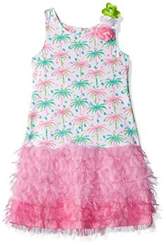 Kate Mack Little Girls Island Hopping Knit Dress W Netting Skirt Multi 6x >>> You can find more details by visiting the image link.(It is Amazon affiliate link) #baby