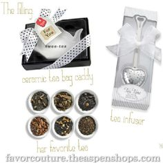 Our fabulous tea party favors add a trendy twist to traditional tea party themed bridal showers, baby showers and birthday parties and let's not forget Mothers Day!