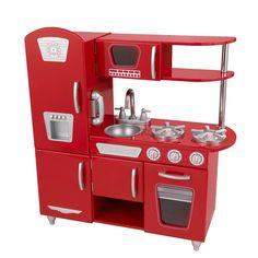Cozinha Infantil Vintage Vermelha KidKraft | DEDOBRINQUEDO