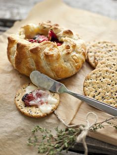Baked Brie with Sun-Dried Tomatoes and Thyme: Easy Easter Recipes - may try this but with camembert instead