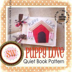PATTERN for Puppy Love plush/quiet book - PDF
