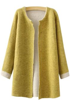 Jewel Neck Color Block Long Sleeve Cardigan