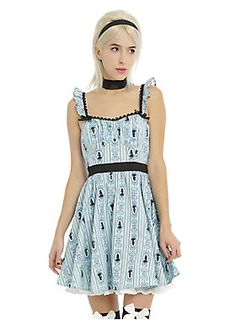 3a862bf57be Disney s Alice In Wonderland Ruffle Back Cosplay Dress. HotTopic