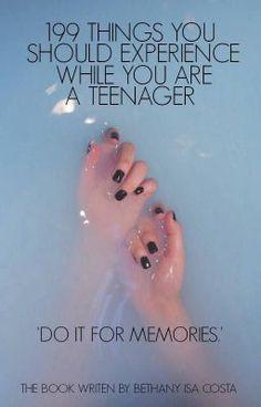 "Přečti si "" 199 things you should experience while you are a teenager "" na #Wattpad. #náhodně"