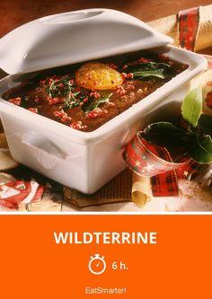 Wildterrine - smarter - Zeit: 6 Std. | eatsmarter.de Appetizer Dips, Venison, Eat Smarter, Pot Pies, Rabbits, Oven, Kochen, Food Food, Recipes