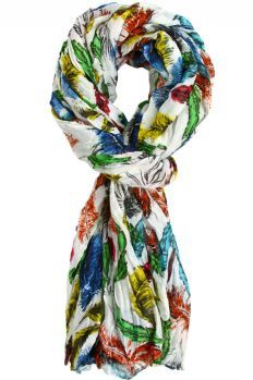 Candice Feather Print Scarf