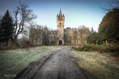 Miranda Castle, an astonishing abandoned 19th Century neo-Gothic castle in Celles, province of Namur, Belgium.