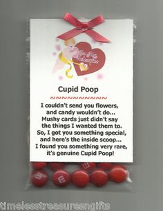 New Homemade Cupid Poop Valentines Day Candy Novelty Gag Gift w M M's!