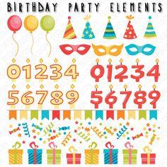 Un preferito personale dal mio negozio Etsy https://www.etsy.com/it/listing/249587783/birthday-elements-royalty-free-vector