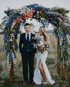 How incredible is this arbor?! And those blooms! Gorgeous shoot by @heartandcolour Florals by @stemdesignflorals Styling by @lovestruckweddings Beauty by @aviabeauty
