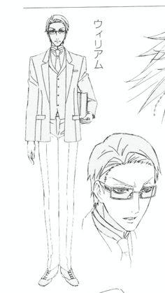 (Kuroshitsuji/Black Butler - William T. Spears) Concept art. Clickthrough for full outfit breakdown!