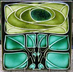 Art Nouveau Bold Mackintosh Style Rose Ceramic Tile at Pilgrim Tiles Motifs Art Nouveau, Azulejos Art Nouveau, Art Nouveau Flowers, Art Nouveau Tiles, Art Nouveau Design, Antique Tiles, Antique Art, Vintage Tile, Arts And Crafts Movement